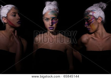 Graphic Colorful Make Up