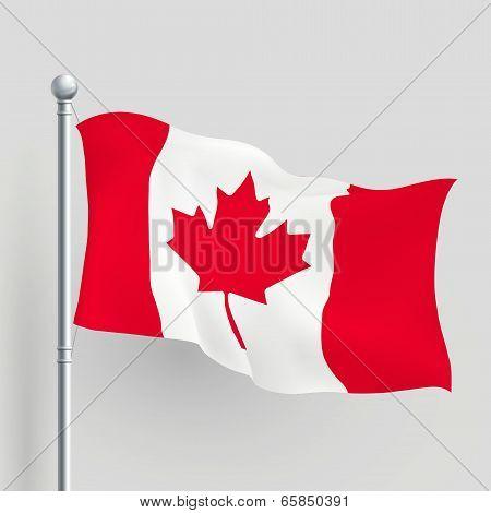 3D Vector Canada Flag