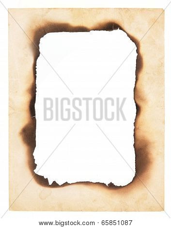 Burned Edges Paper Frame
