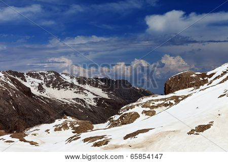 Rocks With Snow