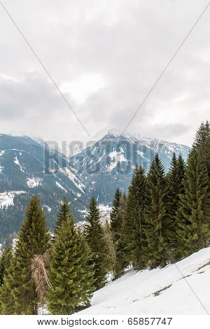 Ski Resort Town Bad Gastein In Winter Snowy Mountains, Austria, Land Salzburg,  Austrian Alps - Natu