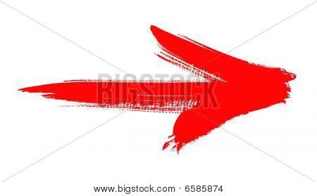 Seta vermelha Grunge