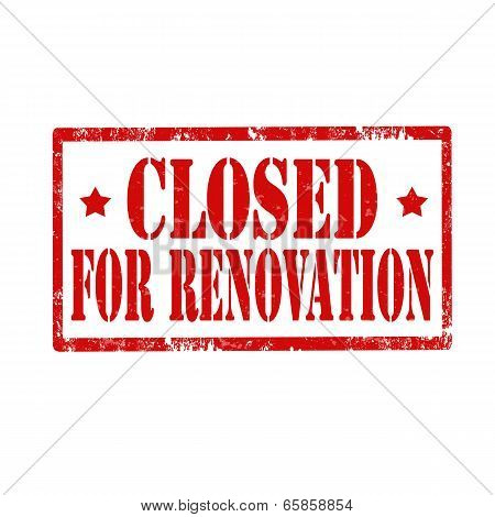 Closed For Renovation-stamp