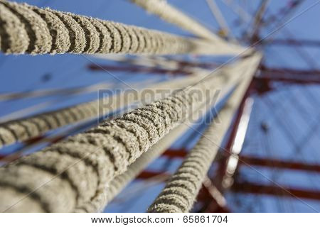 Tall Ship Rope Rigging