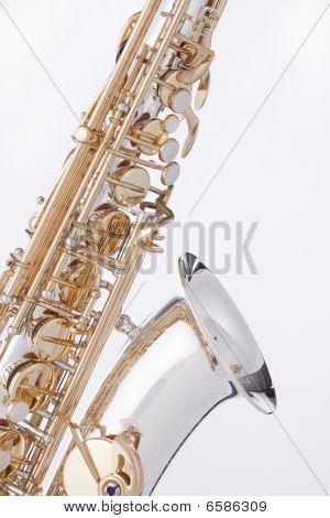 Saxophone Alto Isolated On White