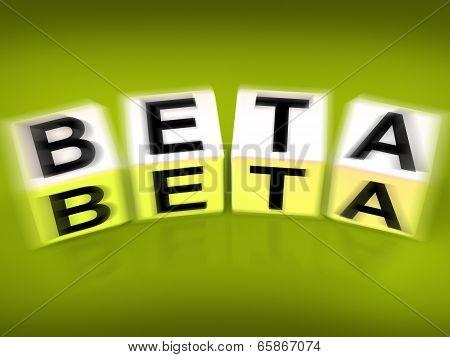 Beta Blocks Displays Internet Development And Experiment