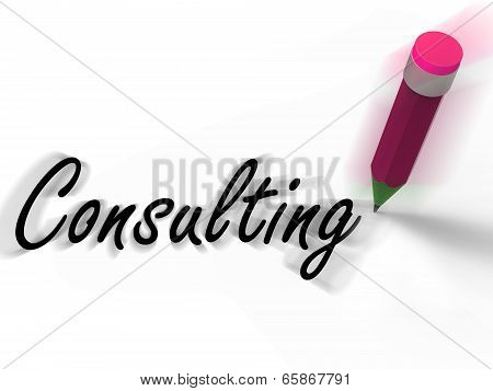 Consulting With Pencil Displays Written Consultation And Advice
