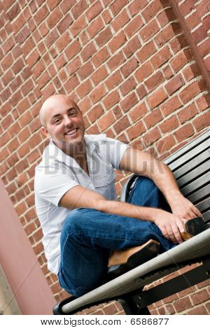 Guy On A Bench