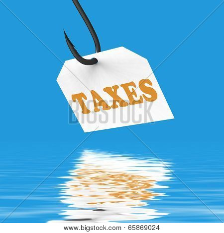 Taxes On Hook Displays Taxation Or Legal Fees