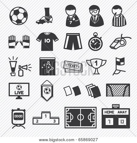 soccer icons set  illustration eps10