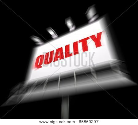 Quality Sign Displays Condition Aspect Or Certified Perfect