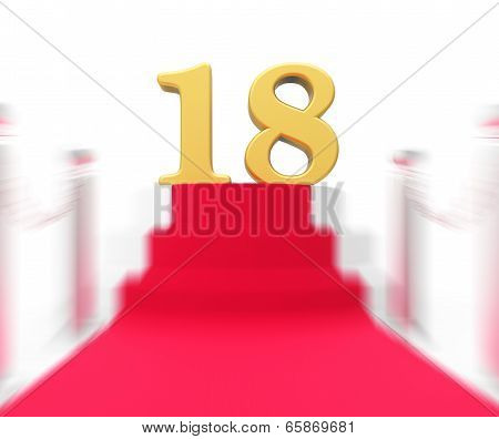 Golden Eighteen On Red Carpet Displays Celebrity Eighteenth Birthday Party