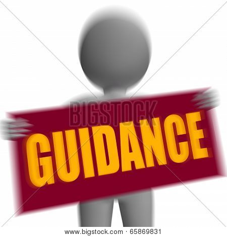 Guidance Sign Character Displays Support And Assistance