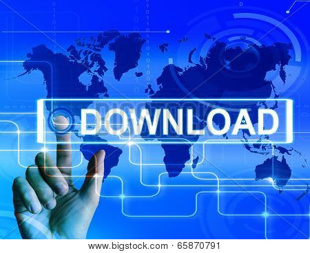 Download Map Displays Downloads Downloading And Internet Transfer