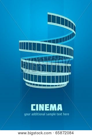 Concept sign cinematograph film tape. Eps10 vector illustration.