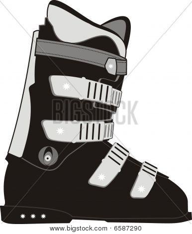 The ski sports boot.