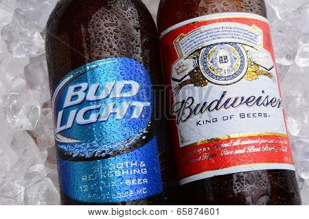 Budweiser And Bud Light On Ice