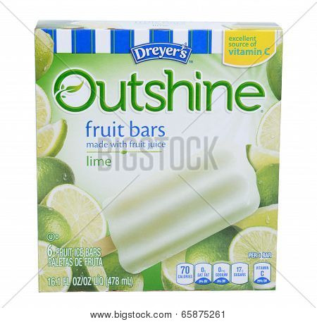 Dreyers Outshine Lime Bars