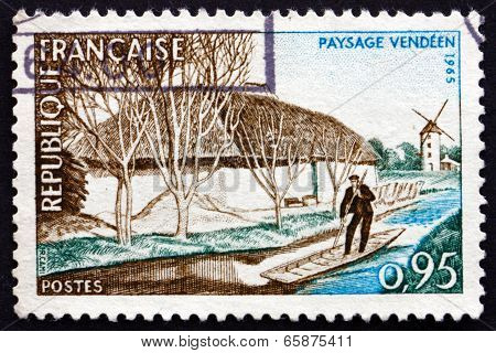 Postage Stamp France 1965 Vendee River