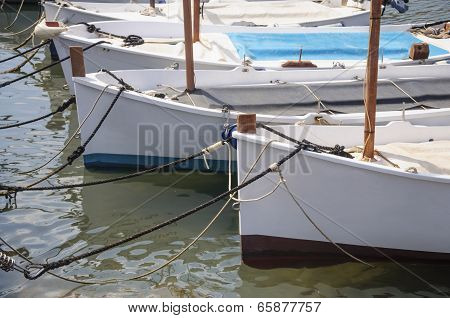 Traditional Sailboats (llauts) Moored, Majorca