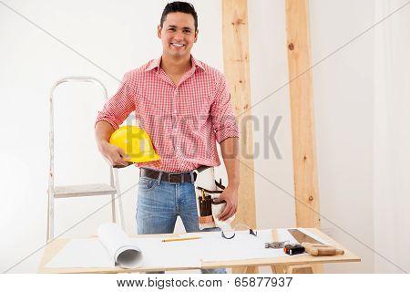 Handsome Engineer At Work