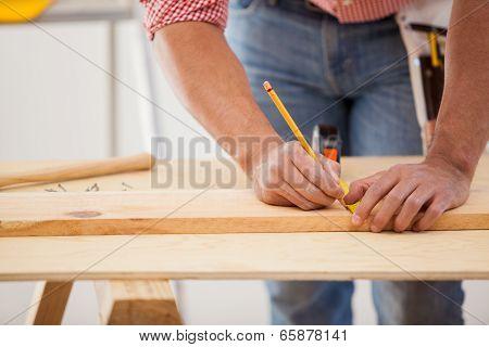Measuring A Wood Board