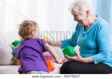 Grandma Playing With Grandchild