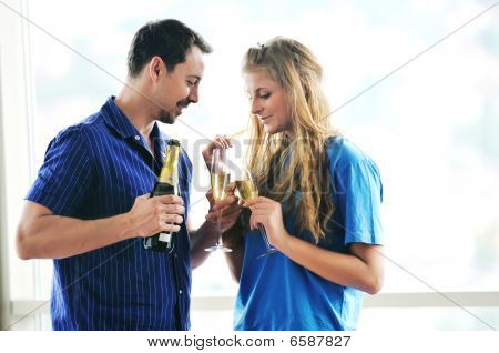 Happy Couple Celebrate