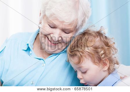 Toddler Spending Time With Grandma