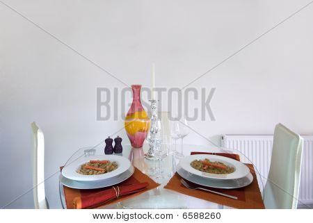 Romantic Dining Table Set Up