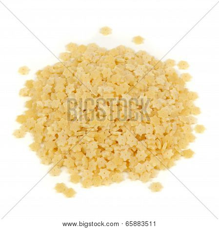Star-shaped Pasta Isolated On White Background