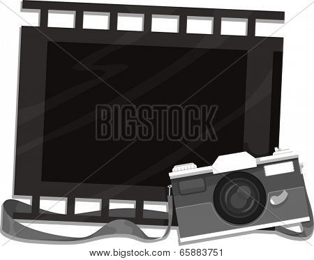 Frame Illustration Featuring a Camera and a Filmstrip