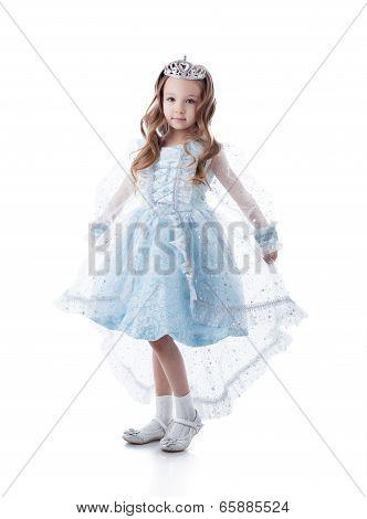 Lovely little girl posing dressed as princess