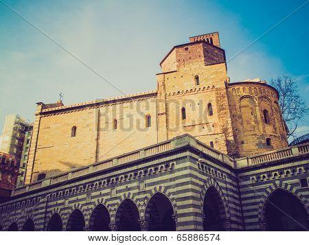 Retro Look Santo Stefano Church In Genoa