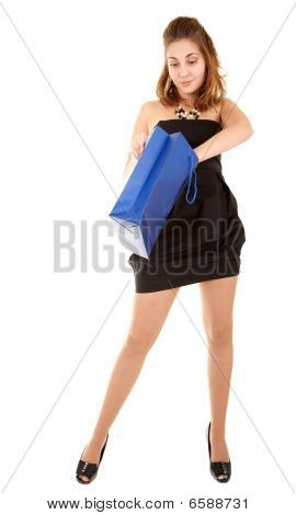 Beautiful Women With Papper Bag