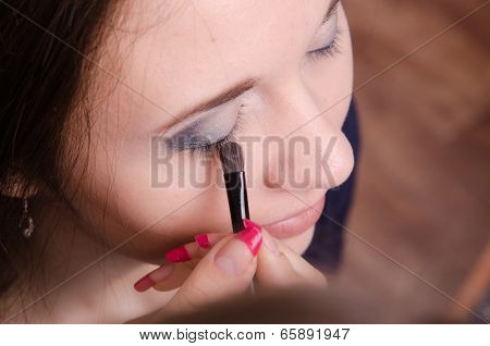 Makeup Artist Brush Eyelash Tints Model