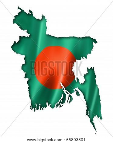 Bangladesh Flag Map