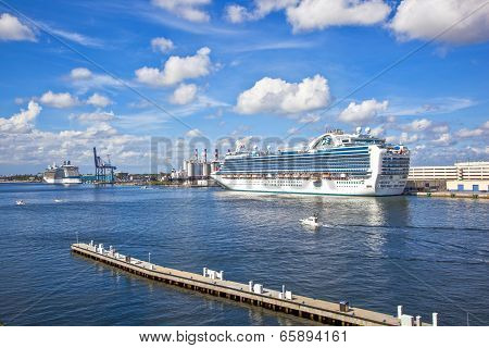 Cruise Ship In The Harbor