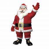Photo of santa waving.