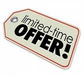 picture of countdown  - Limited Time Offer  store price tag merchandise or products special price sale deal - JPG