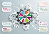 pic of machine  - Gear machine with 8 options on the grey background - JPG