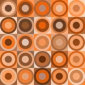 Постер, плакат: Ретро круги и кубов