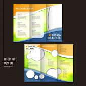 stock photo of brochure  - template of business brochure design with spread pages - JPG