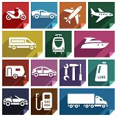 image of lube  - Transport flat icons with shadow - JPG