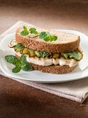 pic of sauteed  - sandwich with grilled chicken and sauteed zucchinis - JPG