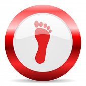 picture of webbed feet white  - foot glossy web icon - JPG