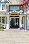 stock photo of nice house  - A nice entrance of a luxury house - JPG