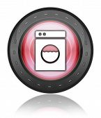 pic of laundromat  - Icon Button Pictogram Image Illustration with Laundromat symbol - JPG