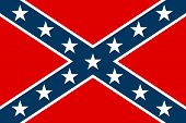 stock photo of rebel flag  - National flag of the Confederate States of America  - JPG