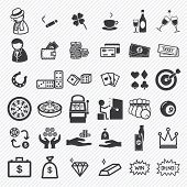 stock photo of gambler  - Casino game icons set vector illustration eps10 - JPG
